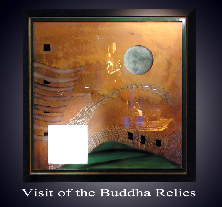 The Buddha's reflection within Streaght of Heart by Martin Gerard